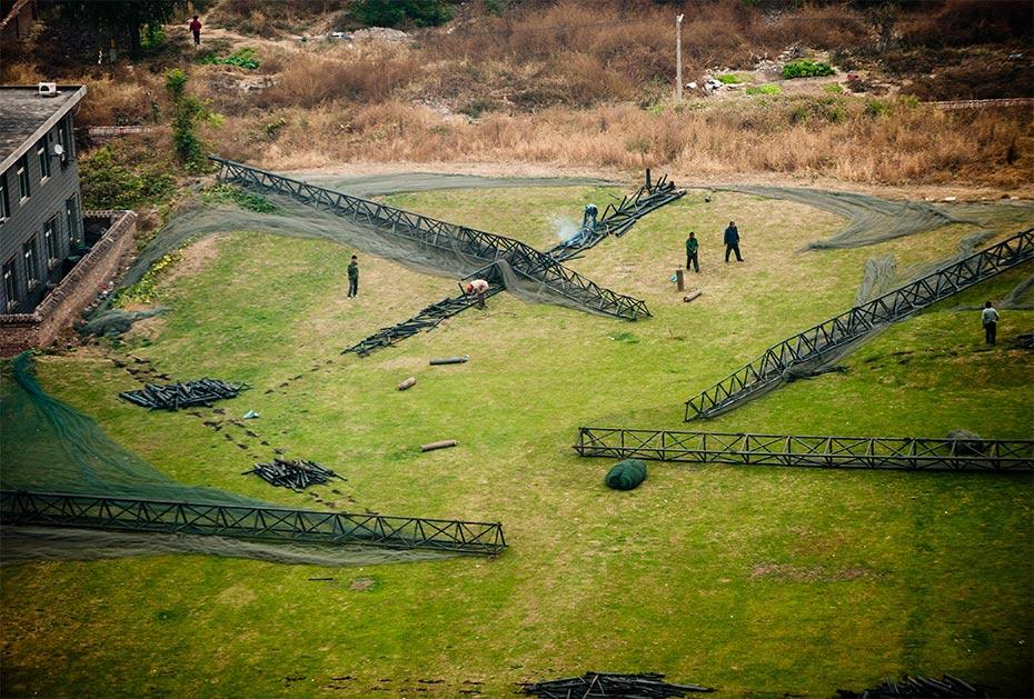 Abriss: Ein Golfplatz in der Nähe Pekings wird dem Erdboden gleich gemacht