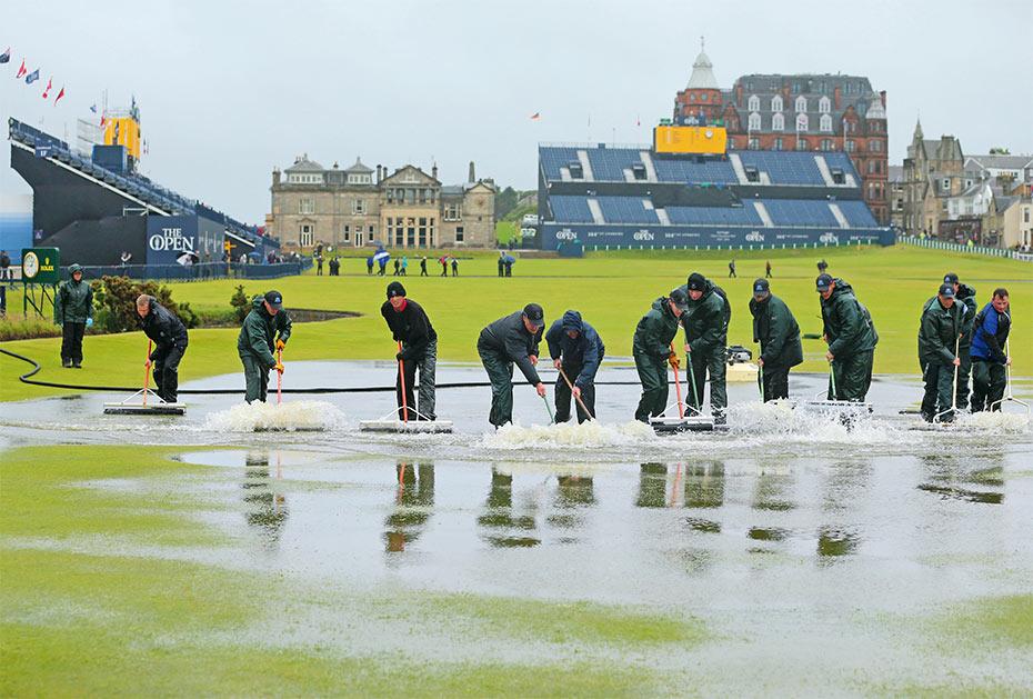 Dauer-Ärgernis: Regen bei der Open Championship