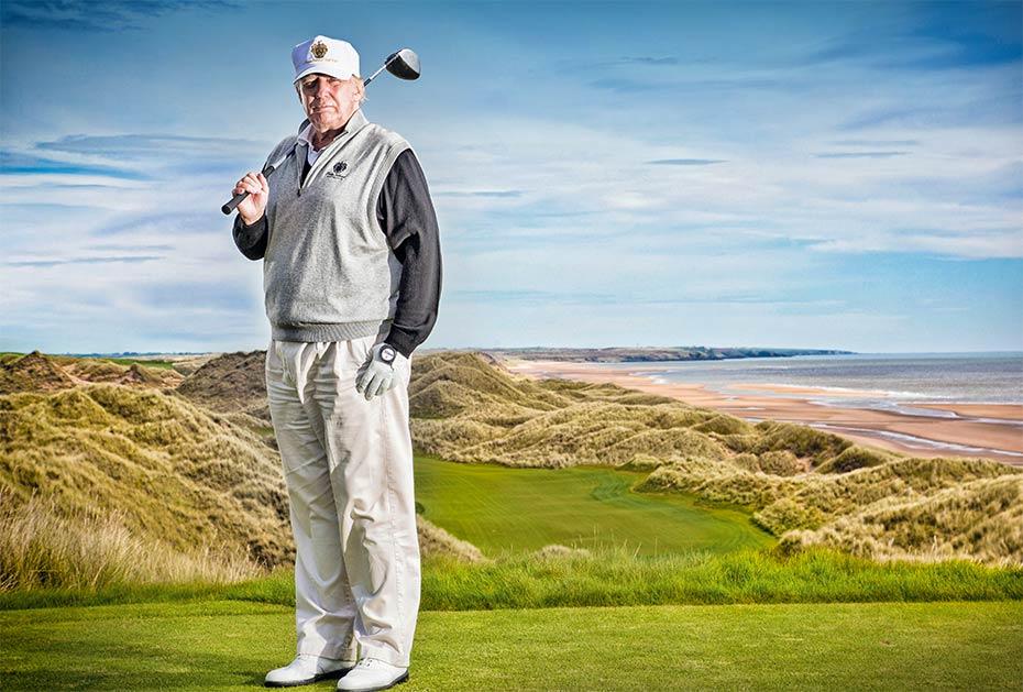 Donald Trump auf dem International Golf Links in Aberdeen