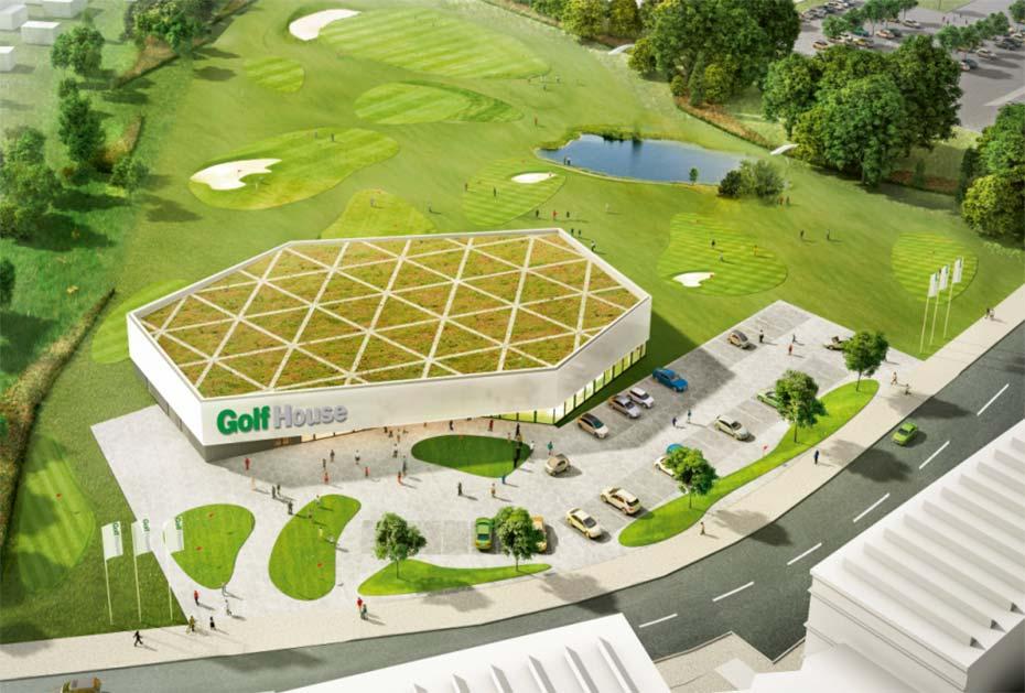 Die Flaggschiff- Filiale in Bielefeld mit völlig neuem Store-Konzept: Zusätzlich zu 1.000 qm Verkaufsfläche gibt es eine 600-qm-Indoor Range mit Foresight Golf Simulator in 4k Qualität