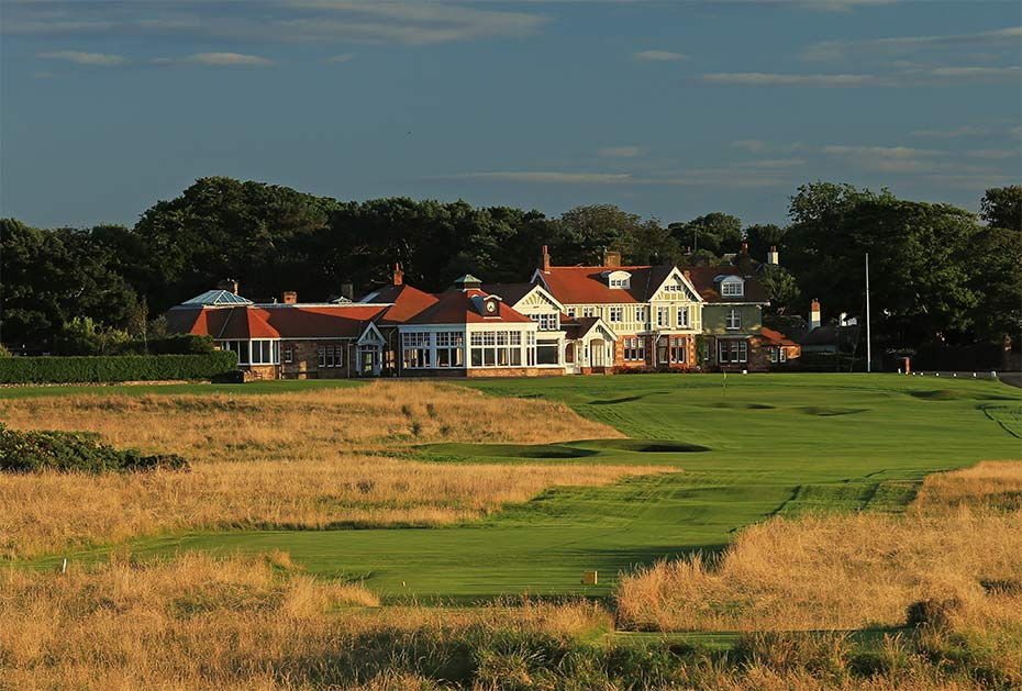 Das Clubhaus des Muirfield Golf Club
