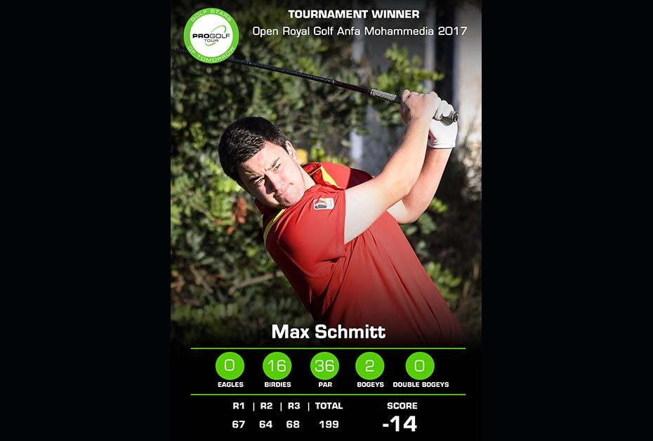 Max Schmitt: Open Royal Golf Anfa Mohammedia 2017