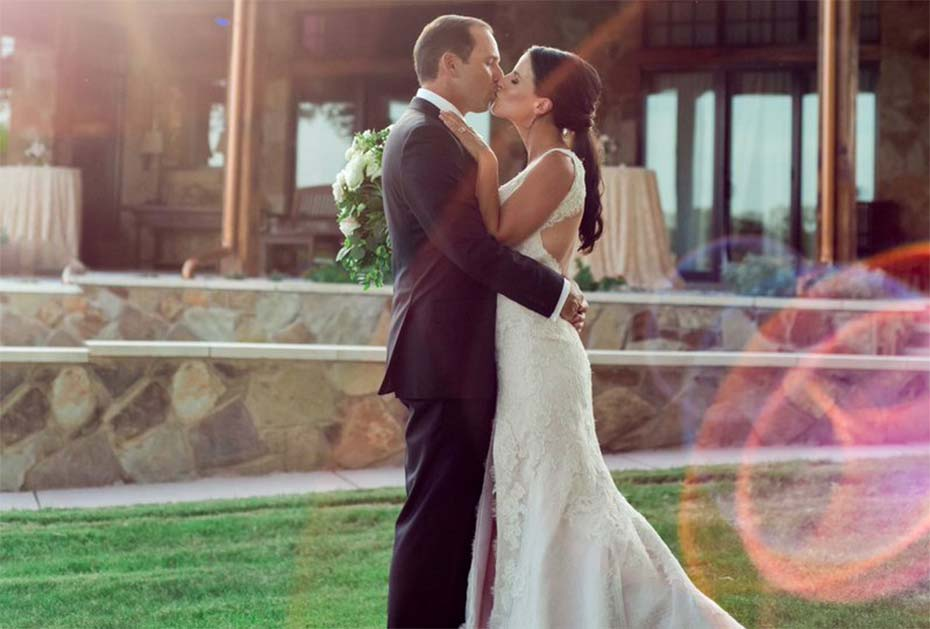 Traumpaar: Garcia und Akins bei ihrer Hochzeit Mitte des Jahres