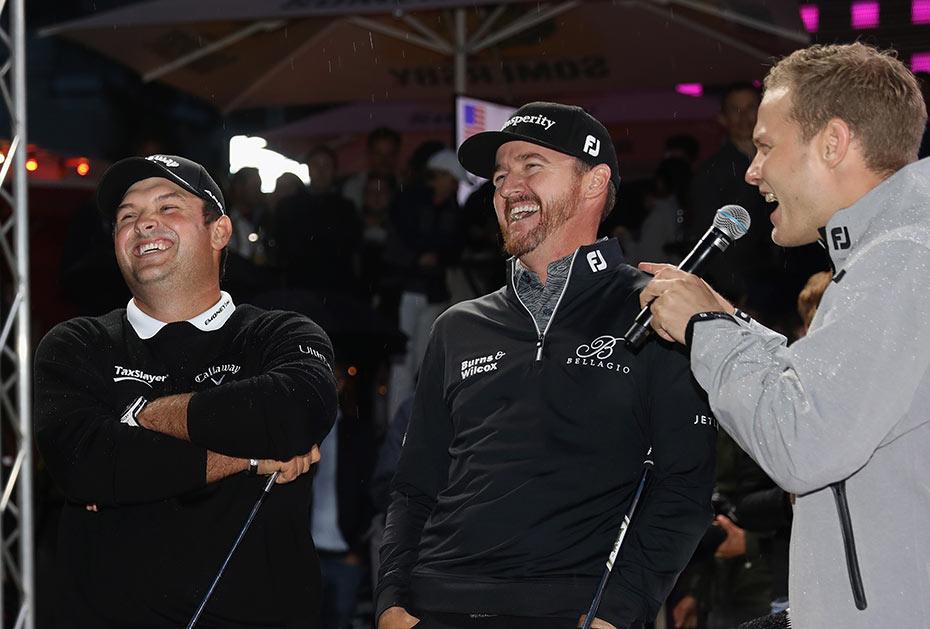 Patrick Reed (links) und Jimmy Walker (Mitte) hatten Spaß