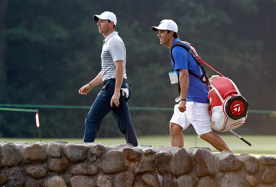 Neues Team: Rory McIlroy mit Harry Diamond am Bag