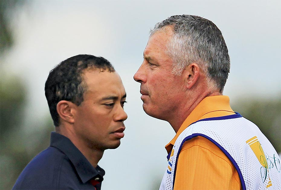 Tiger Woods, Steve Williams (r.)