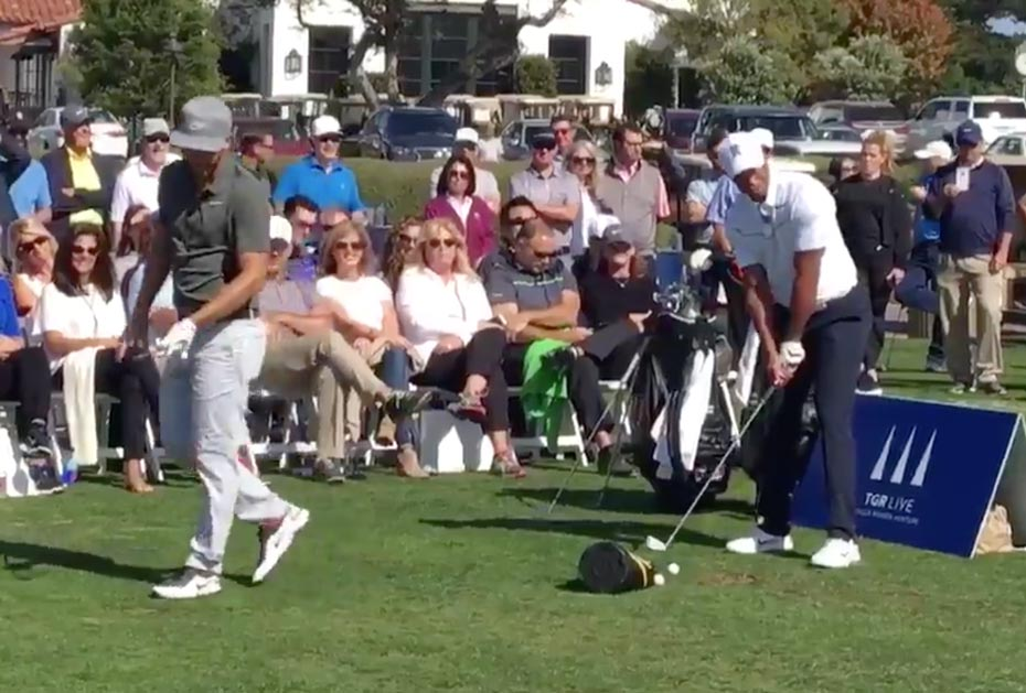 Kevin Chappell und Tiger Woods