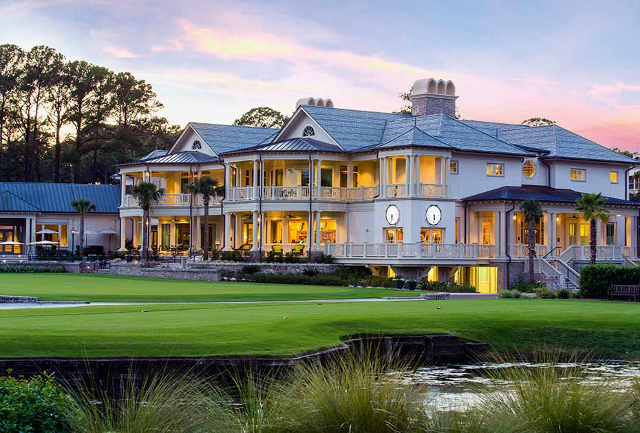 Das Clubhaus des Harbour Town Golf Links auf Hilton Head Island