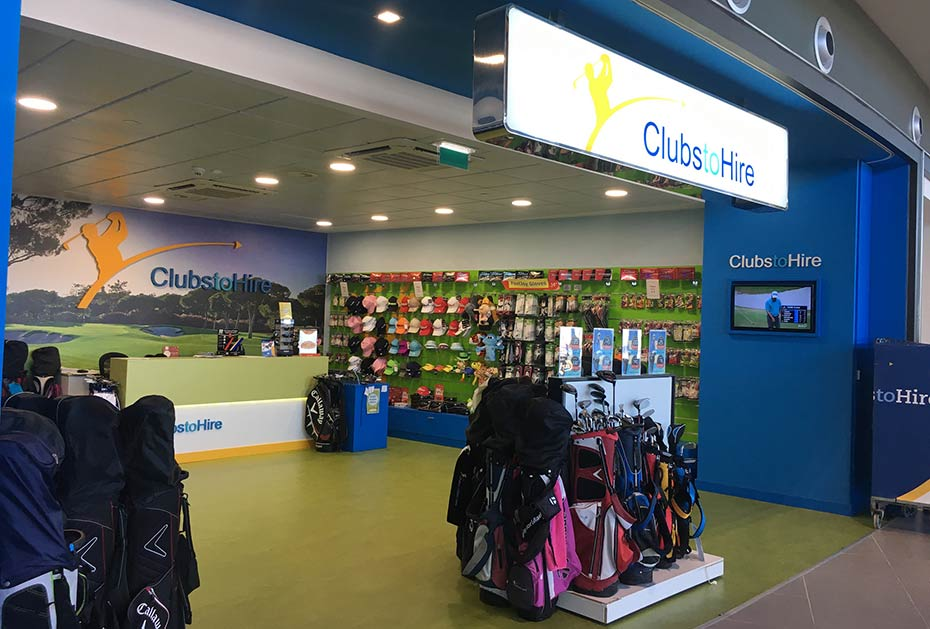 Die Clubs to Hire Filiale am Flughafen Faro in Portugal (Foto: Clubs to Hire)