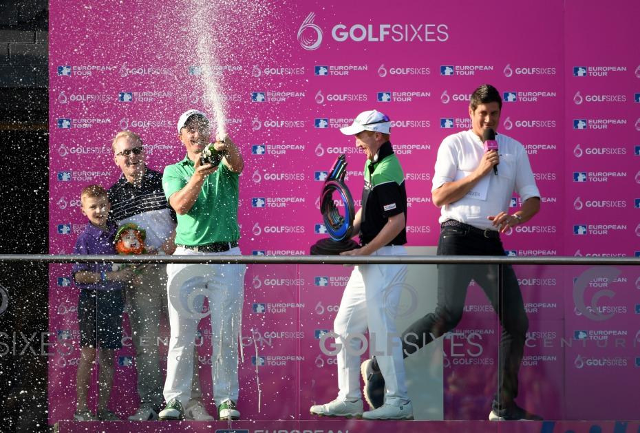 Champagner für Team Irland