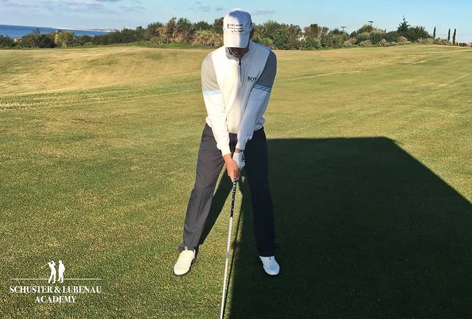 Setup falsch: Oberkörper zur Hälfte im Schatten