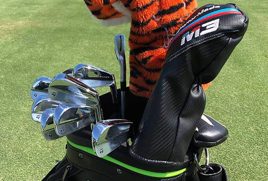 Die neuen TW-Phase1 Eisen in Tiger Woods Bag (Foto: twitter.com/tigerwoods)