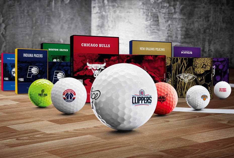 Die NBA-Golfball-Kollektion umfasst alle Vice-Modelle