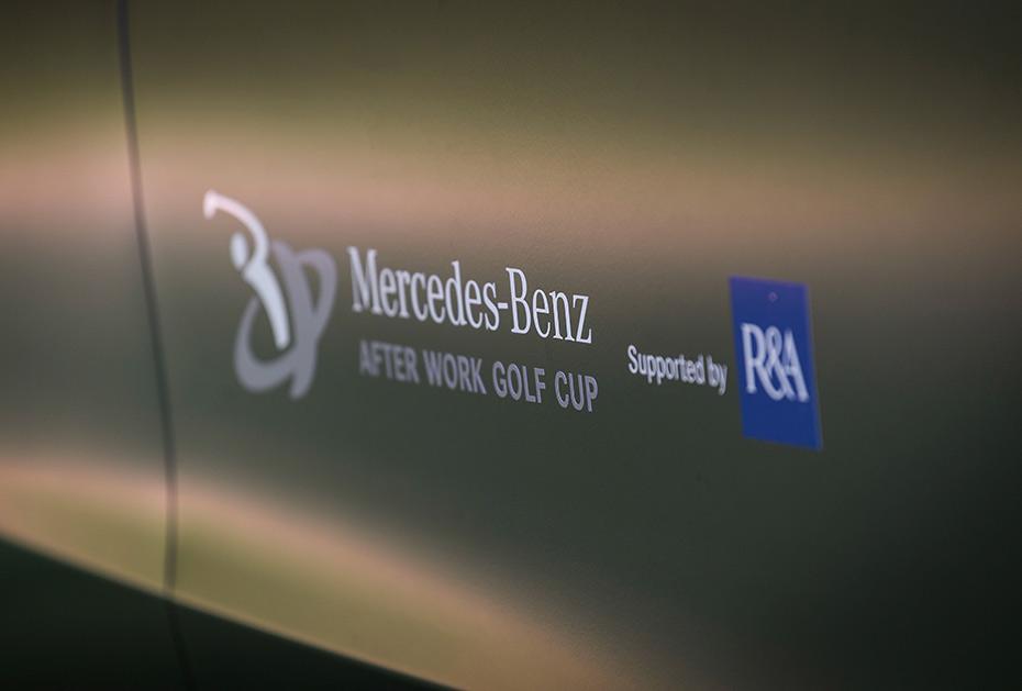 Das neue Logo vom Mercedes-Benz After Work Golf Cup (MBAWGC) supported by R&A (Foto: Mercedes-Benz)