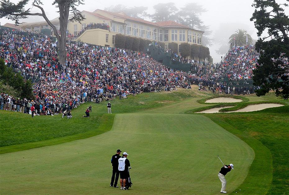 Simpson am Schauplatz seines größten Erfolges: The Olympic Club, San Francisco