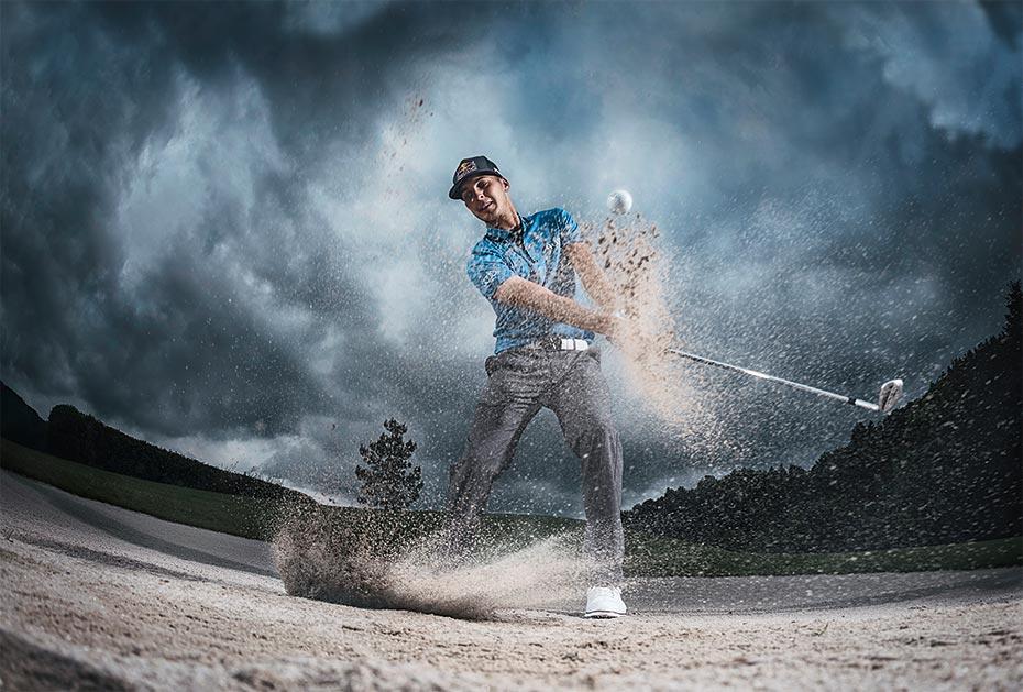 Der 23-jährige Österreicher Matthias Schwab spielt erfolgreich auf der European Tour
