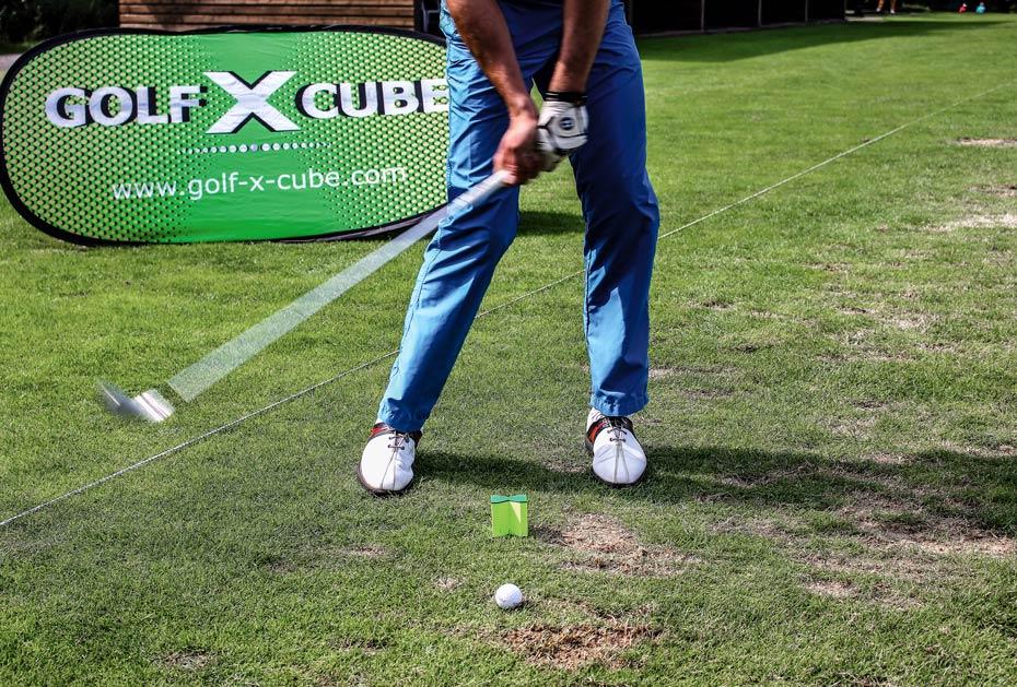Kleines, aber feines Traininsgstool: der Golf-X-Cube