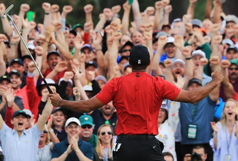 Tiger Woods' Jubel auf dem 18. Grün des Augusta National