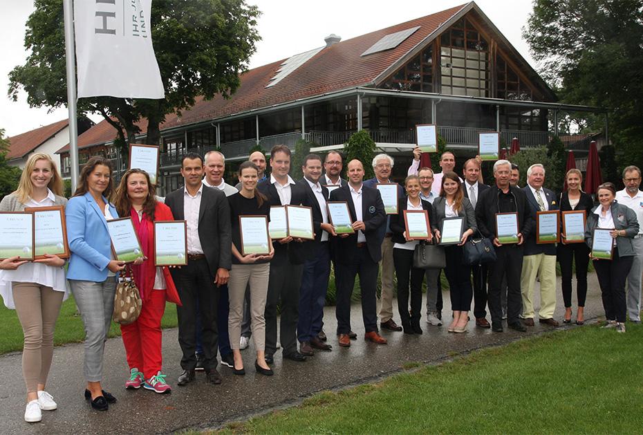 Die Bayerischen Medien-Golfer suchen Deutschlands besten Clubauftritt: Die ausgezeichneten Clubs des Jahres 2018