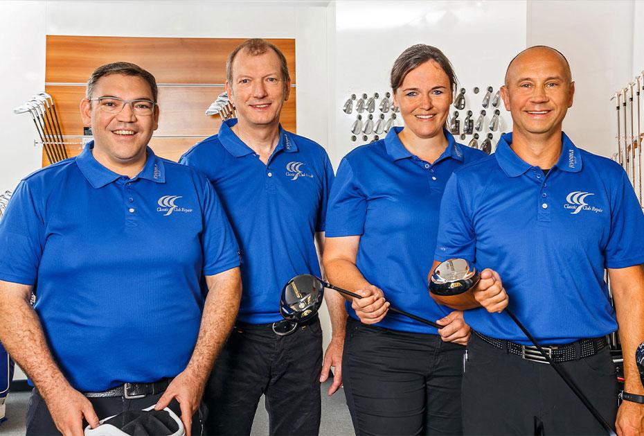 GEBALLTE ERFAHRUNG Dietmar Erhardt (2.v.l.) und sein Team von Classic Club Repair
