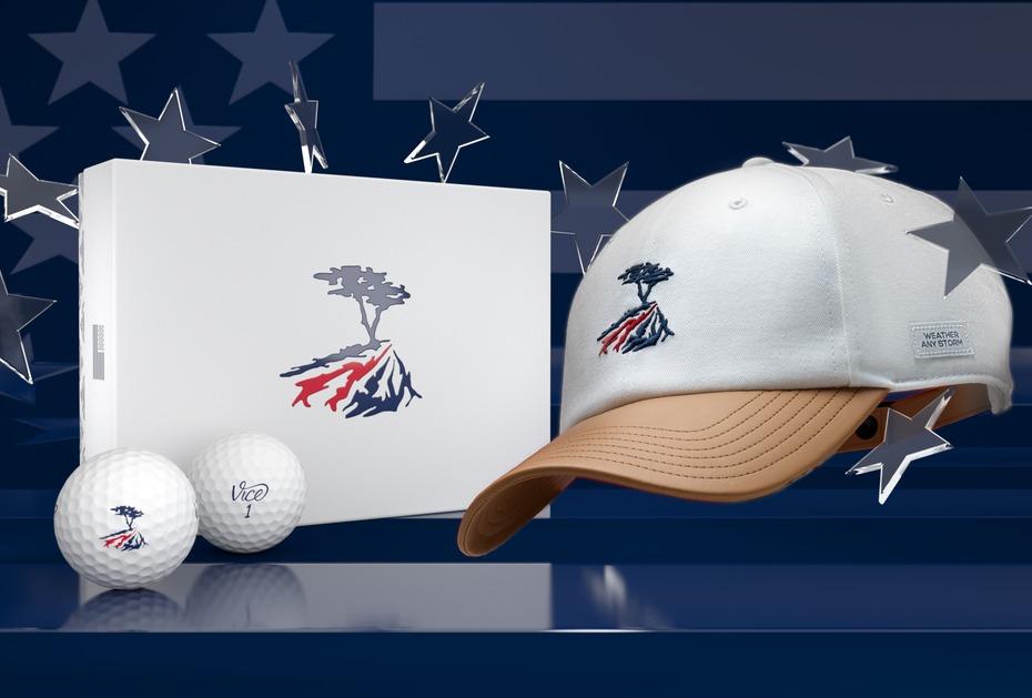 Die Cypress Edition von Vice Golf bestehend aus Caps und Pro Soft Bällen