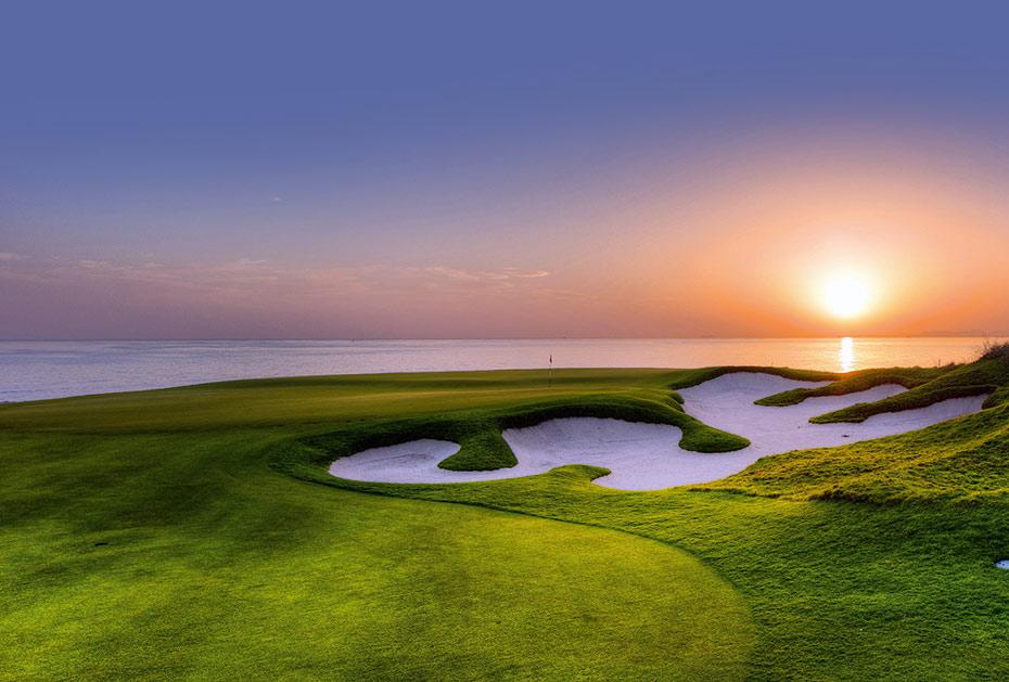 Al Mouj Golf Club: Sonnenuntergang am Indischen Ozean