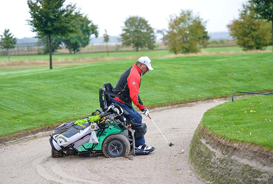 Deutscher Meister der Kategorie Rollstuhlfahrer ist Christian Nachtwey vom GC Rittergut Rothenberger Haus. (Foto: DGV/Wirtz)