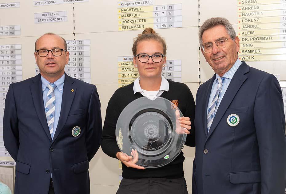 Die Niederländerin Daphne van Houten gewann den Titel der Internationalen Meisterschaft der Golfer mit Behinderungen. (Foto: DGV/Wirtz)