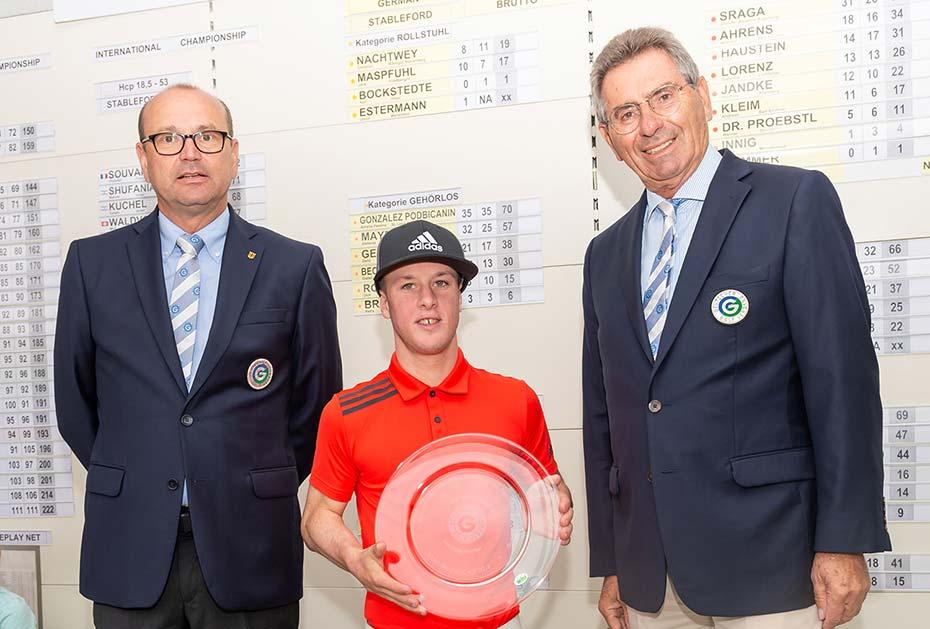 Der Ire Brendan Lawlor ist Internationaler Meister der Golfer mit Behinderungen. (Foto: DGV/Wirtz)