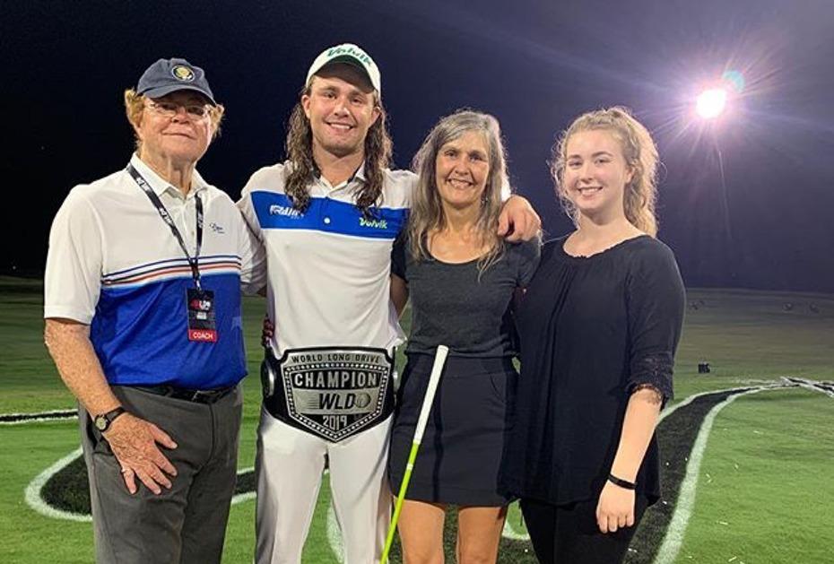 Kyle Berkshire gewinnt die World Long Drive Championship 2019 (Photo by Instagram.com/KyleBerkshire)