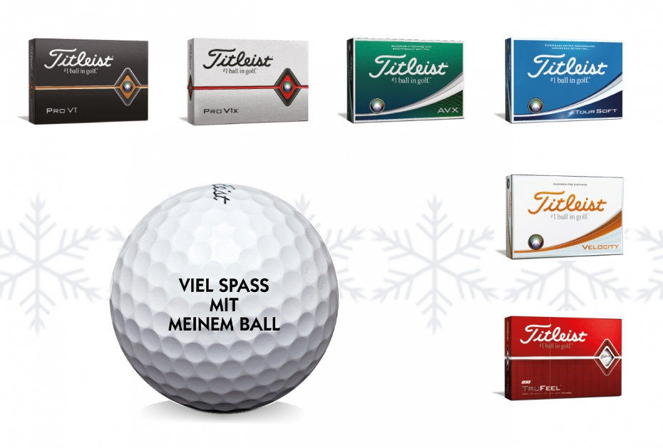 WEIHNACHTSPROMOTION Gratis Bedruckung und exklusiver Ballmarker im Dezember