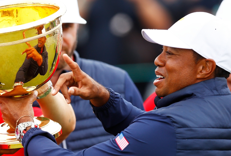 REKORDHALTER Tiger Woods hat mehr Matches beim Presidents Cup gewonnen als jeder andere Spieler