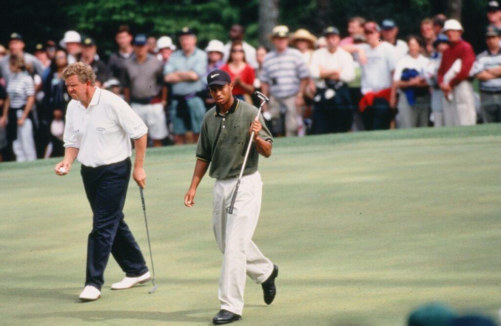 Colin Montgomerie und Tiger Woods