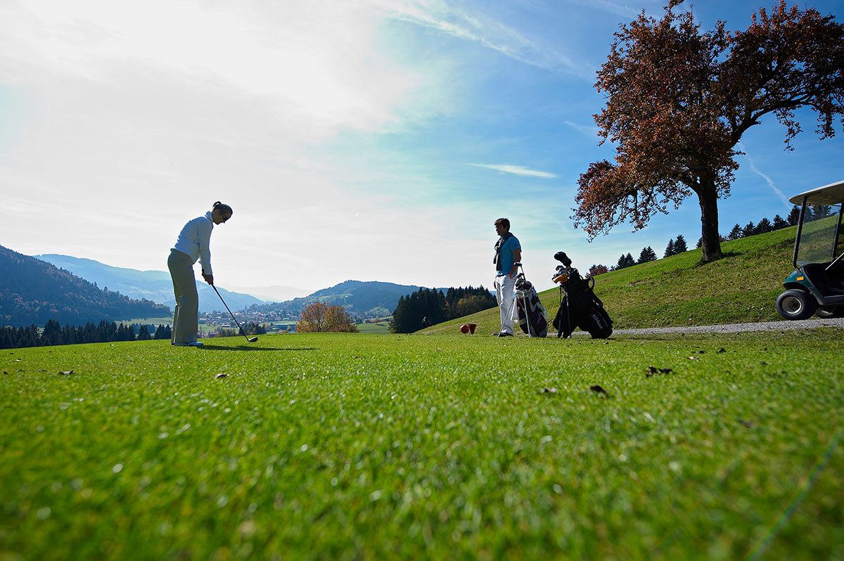 Der Golfplatz Oberstaufen Buflings ist wegen seiner Topografie eine Herausforderung