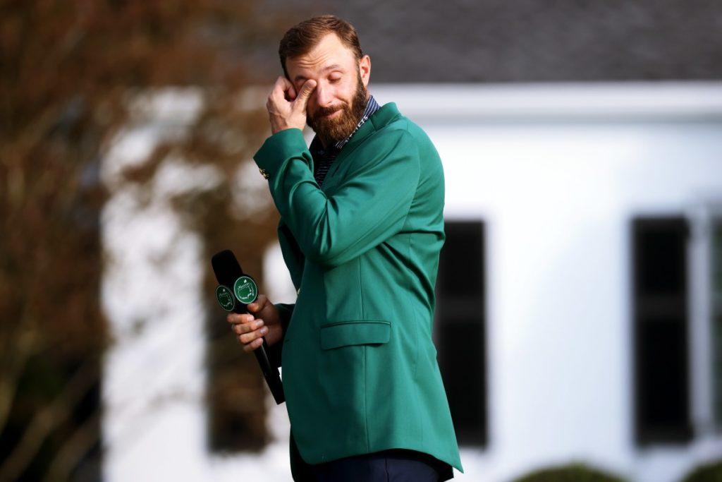 Ungewohnte Emotionen: Dustin Johnson stockt bei der Siegerrede beim Masters in Augusta. Zuvor hatte der Amerikaner kaltschnäuzig seinen zweiten Major-Titel eingetütet.
