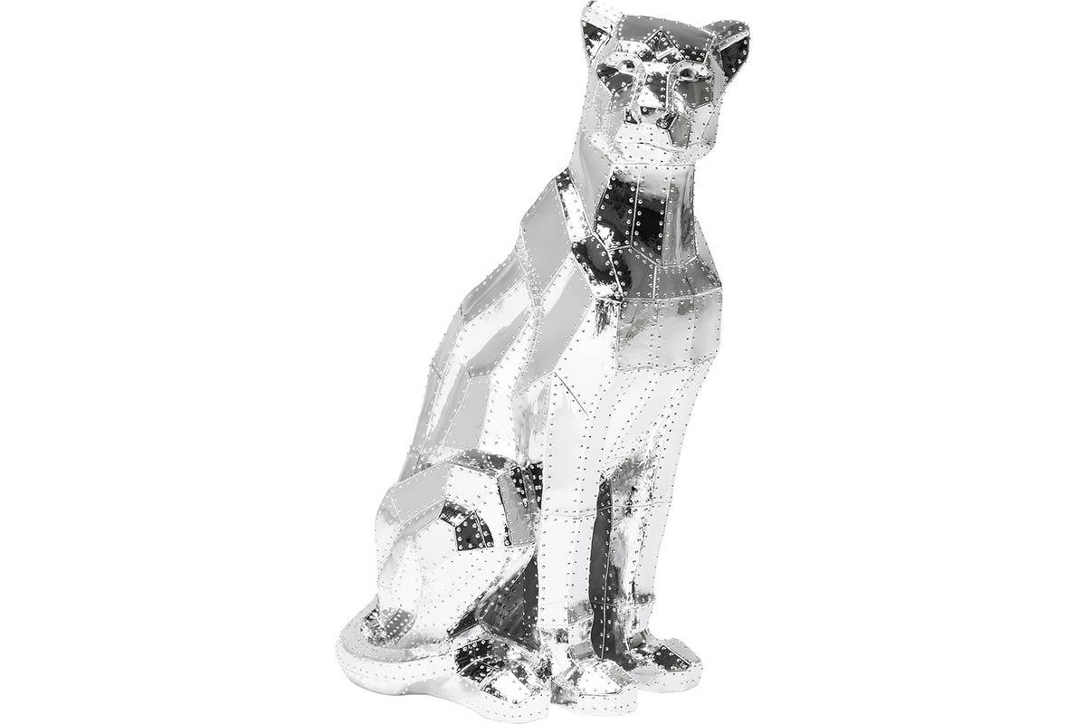 Deko Figur Sitting Cat Rivet Chrom von KARE Design
