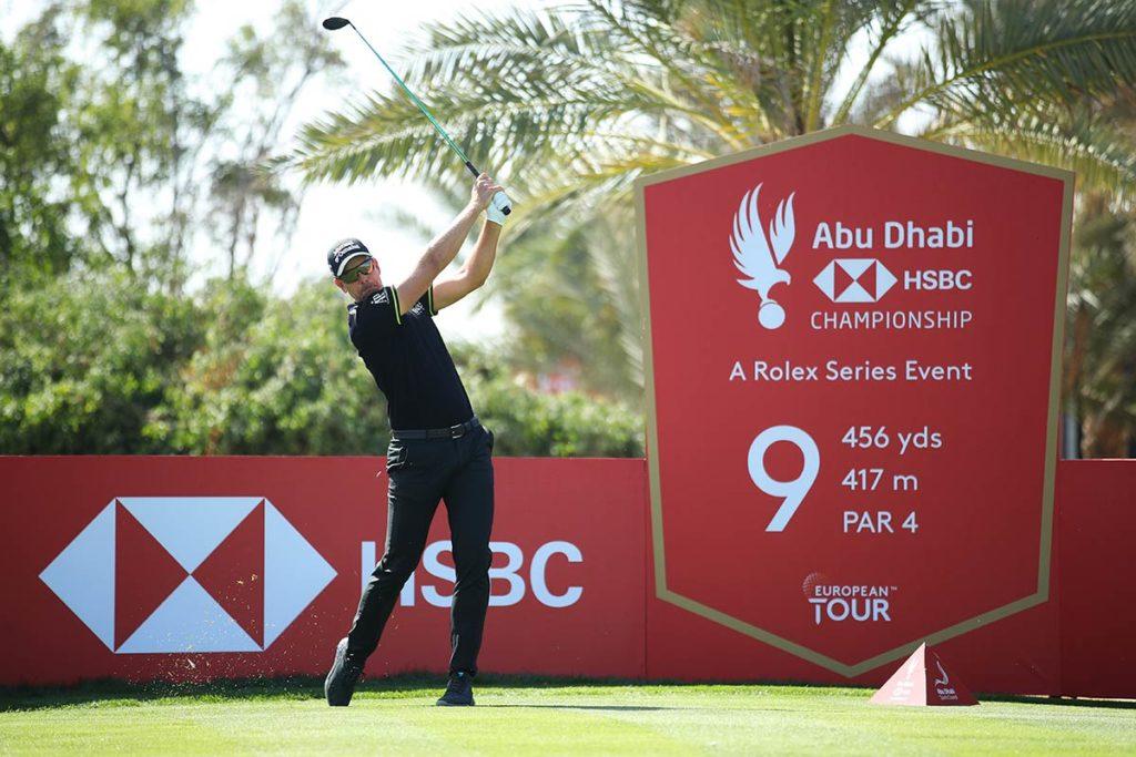Premiere bei der Abu Dhabi HSBC Championship 2021: Henrik Stenson mit den ECCO Golf Iceman S-Three Special Edition