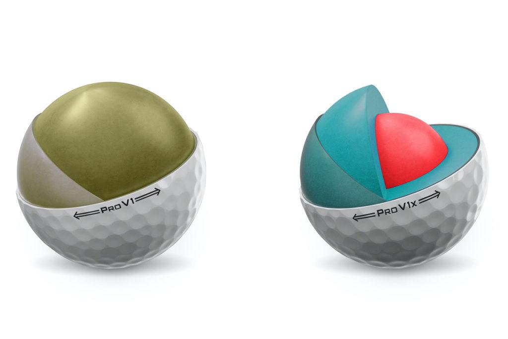 EIn Blick ins Innenleben der neuen Pro V1 und Prov1x Bälle