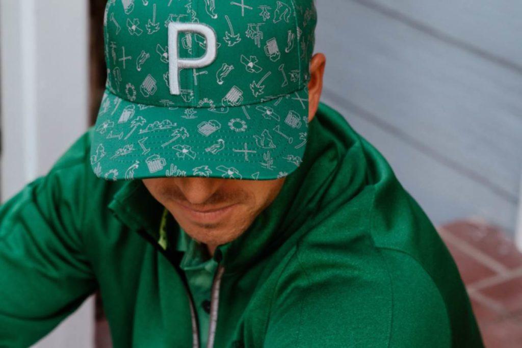 PUMA Markenbotschafter Rickie Fowler mit einer Cap der Kollektion zur Waste Management Open.