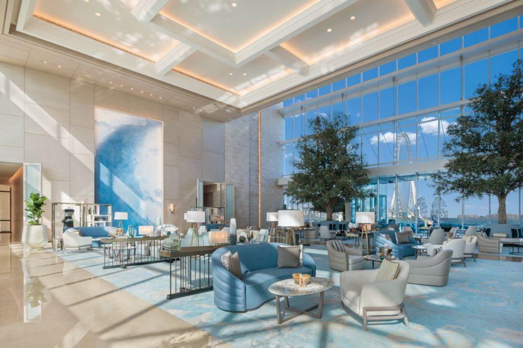 Gigantisches Entree: die Hotel-Lobby Die Hotel-Lobby