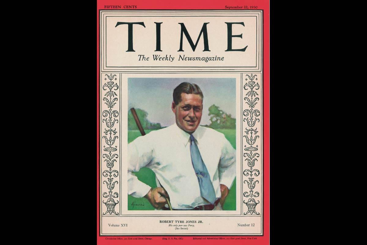 BERÜHMT Das TIME Magazine widmete Bobby Jones eine Titelseite, den Grand Slam schaffte nur er
