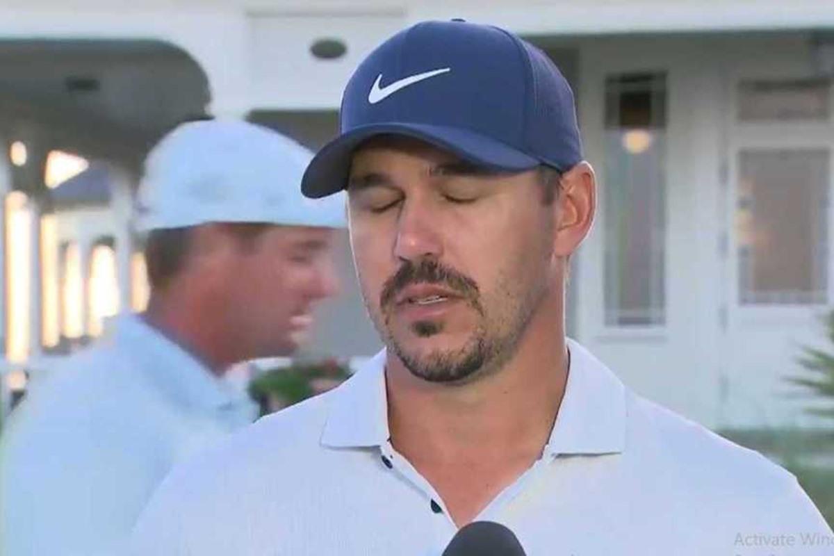 Sichtlich genervt: Brooks Koepka beim Interview (Bild: Golf Channel)