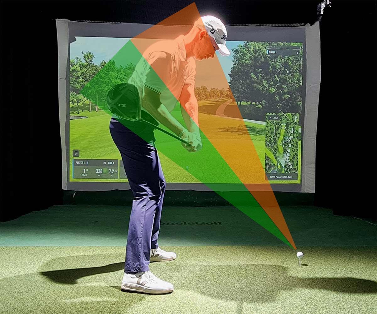 Training Driver: Kommt der Schläger von innen an den Ball (grüner Bereich), ist alles bestens