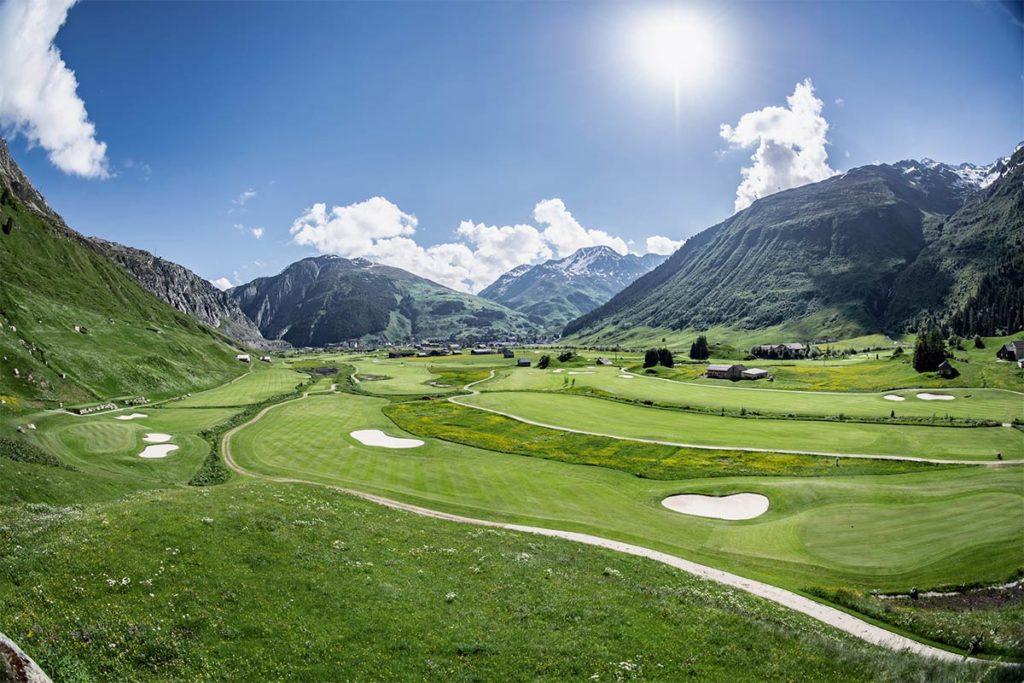 Andermatt Swiss Alps Golf Course: Austragungsort des Landesfinales der SAMSONITE Golf Club Tour