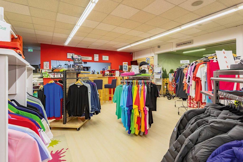 EvenParGolf -Riesenauswahl auf 550 Quadratmeter Ladenfläche