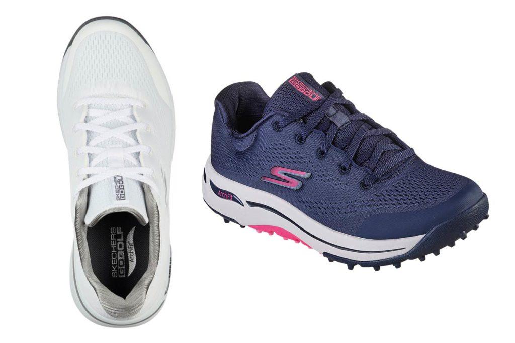 FÜR DAMEN: Der GO GOLF Arch Fit Balance ist in den Farben Navy/Pink, grau/Blau, Schwarz und Weiß erhältlich