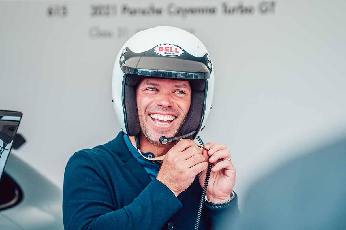 Paul Casey testet den Cayenne Turbo GT beim Goodwood Festival of Speed