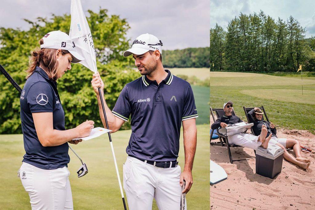 Golfendes Geschwisterpaar - Karo und ihr Bruder Moritz Lampert