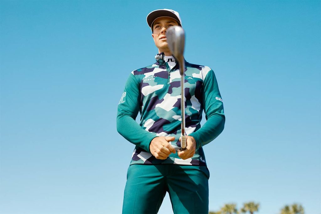 Hose – Elof Golf Pant in Treeline Green; Preis: 100 €